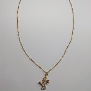 Kate Spade New Gold Hummingbird Necklace